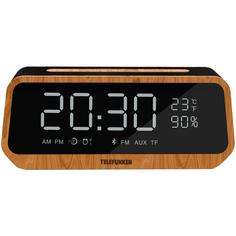 Радио-часы Telefunken TF-1701B Wood