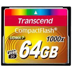 Карта памяти CompactFlash Transcend TS64GCF1000