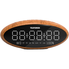 Радио-часы Telefunken TF-1702UB Wood