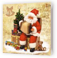 Бумажная продукция Салфетки трехслойные 33 см Bulgaree Green Музыкальный Дед Мороз