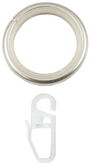 Карнизы шторные Кольца с крючками 20 см 10 шт. серебристые Уют