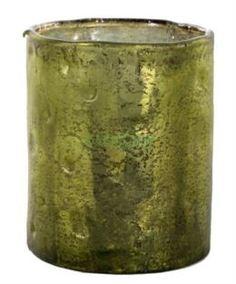 Вазы SHISHI Ваза-цилиндр серебристо-зеленая 13 см