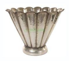 Вазы Ваза Shi Shi Обиход Металлическая цветок сереб 23см (33328)