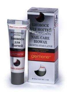 Средства для маникюра и педикюра Gemene Биовоск для ногтей активатор роста, туба, 30 мл