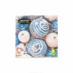 Бумажная продукция Салфетки трехслойные 33 см Bulgaree Green Синие шары