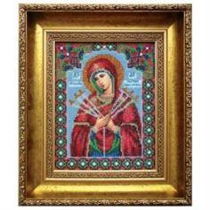 Рукоделие Вышивание Чарiвна мить Набор для вышивания бисером икона божьей матери умягчение злых сердец (Б-1008)