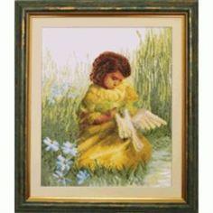 Рукоделие Вышивание Чарiвна мить Набор для вышивания девочка с голубем