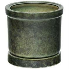 Кашпо, горшки, балконные ящики Горшок для цветов Элитная керамика цилиндр зеленый 47 см