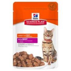 Влажный корм и консервы для кошек Корм для кошек HILLS Science Plan Говядина, 85г
