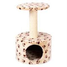 Домики, лежаки, переноски, когтеточки Дом-когтеточка для кошек MAJOR Лапы 40х40х60см