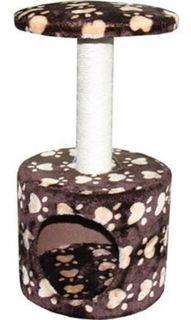 Домики, лежаки, переноски, когтеточки Когтеточка для кошек MAJOR Домик Лапы 30х30х57см коричневый