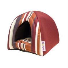Домики, лежаки, переноски, когтеточки Дом для животных MAJOR Geometry 40x40x40 см красный/полоска