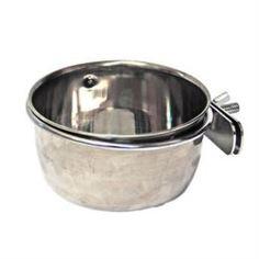 Домики, кормушки, туалеты, игрушки и аксессуары для грызунов Миска для грызунов ХОРОШКА для корма и воды с зажимом 0,3л