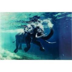 Настенные декоративные украшения Картина плавающий слон 180х120 Kare