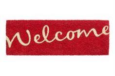 Коврики Коврик HAMAT 147 Ruco Welcome красный 26x75 см
