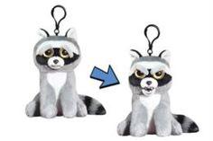 Мягкая игрушка Енот серый Feisty Pets на карабине 11 см