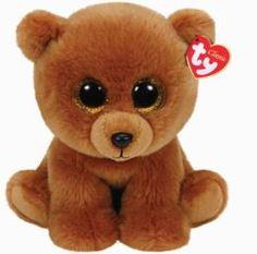 Мягкая игрушка TY Classic Коричневый мишка Brownie 22 см