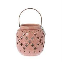 Свечи, подсвечники, аромалампы Фонарь-подсвечник royal розовый 16см Riverdale
