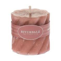 Свечи, подсвечники, аромалампы Свеча swirl ant. Rose 5х5см Riverdale