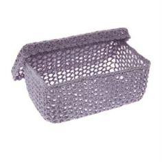Емкости для хранения Корзина для хранения Bizzotto home crochet lilac xxl
