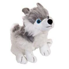 Мягкая игрушка Собака серая с белым ABtoys 18 см