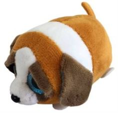 Мягкая игрушка Собачка коричневая с белым ABtoys 10 см