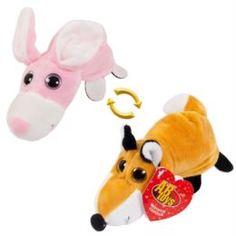 Мягкая игрушка Игрушка перевертыши лиса/заяц ABtoys 16 см
