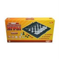 Настольные и напольные игры Настольная игра ABtoys 3 в 1 Шахматы Шашки Нарды магнитные