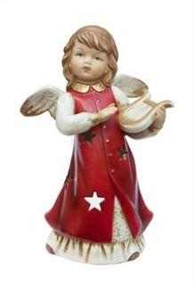 Свечи, подсвечники, аромалампы Подсвечник Angel Craft Ангел музыкальные инструменты красный 20 см