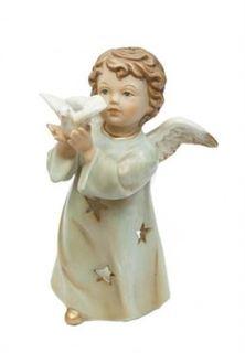 Свечи, подсвечники, аромалампы Подсвечник Angel Craft Ангел с голубем 17 см