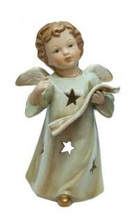 Свечи, подсвечники, аромалампы Подсвечник Angel Craft Ангел ноты 17 см