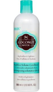 Средства по уходу за волосами Кондиционер HASK Объем без утяжеления, с кокосовой водой 355 мл