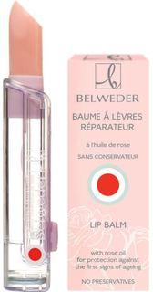 Уход за кожей лица Бальзам для губ Belweder с розовым маслом 4 г