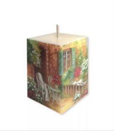 Свечи, подсвечники, аромалампы Свеча Свечной Двор Летняя веранда 7.5х7.5х11 см