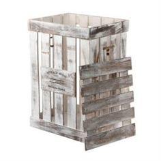 Емкости для хранения Ящик декоративный Huachen energy винтаж белый 37х29х52 см