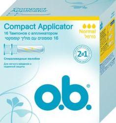 Средства личной гигиены Тампоны o.b. Compact Applicator Normal 16 шт