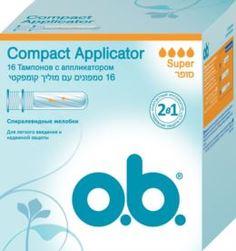 Средства личной гигиены Тампоны o.b. Compact Applicator Super 16 шт