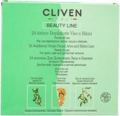 Средства для/после бритья Депиляционные полоски Cliven для лица и зоны бикини 24 шт