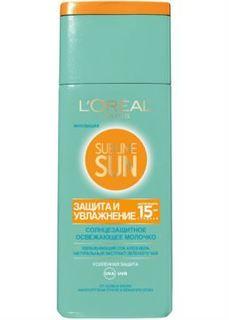 Средства для/против загара Освежающее молочко для лица и тела LOreal Paris Sublime Sun Защита и Увлажнение SPF15 200 мл LOreal