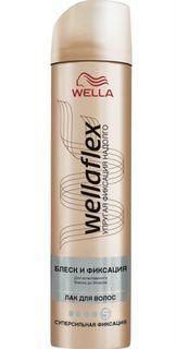Средства по уходу за волосами Лак для волос Wellaflex Блеск и фиксация супер-сильной фиксации 250 мл