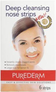 Уход за кожей лица Полоски Purederm для глубокого очищения пор лица 6 шт