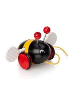 Интерактив обучающий Каталка-пчелка 1TOY brio на веревочке