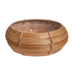 Кашпо, горшки, балконные ящики Кашпо Edelman flower santiago bowl d43см h17см коричневое