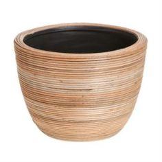 Кашпо, горшки, балконные ящики Кашпо Edelman flower santiago bowl d25см h18см коричневое