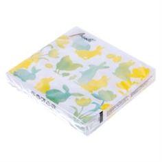 Бумажная продукция Салфетки бумажные 3-слойные 25х25см Ambiente пасхальные силуэты