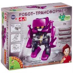 Интерактив обучающий Опыты BONDIBON Робот трансформер 4 в 1