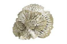 Предметы интерьера Декор настенный цветок серый 39х40.х9.5см Гарда 16