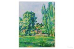 Настенные декоративные украшения Картина Пейзаж с тополями 50х62,5 см