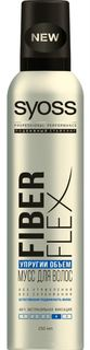Средства по уходу за волосами Мусс для укладки Syoss Fiber Flex Упругий Объем 250 мл