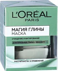 Уход за кожей лица Маска для лица LOreal Paris Магия Глины очищение и матирование с натуральной глиной и эвкалиптом 50 мл LOreal